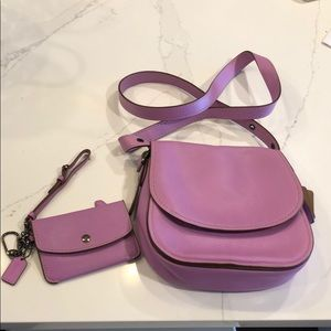 Gorgeous Coach Saddle Bag & Matching Wristlet